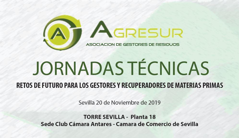 Asistimos el día 2 de noviembre en Sevilla al Congreso anual de AGRESUR, Asociación de Gestores de Residuos.