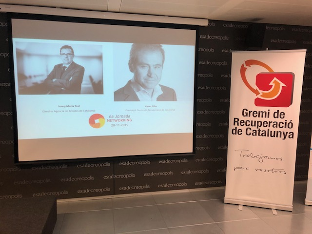 Asistimos el día 28 de noviembre al Congreso anual del Gremi de Recuperació de Catalunya la 6ª Jornada Networking.